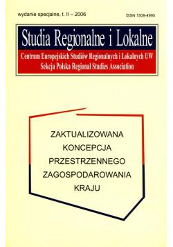 Studia Regionalne i Lokalne Tom 2 2006 wydanie specjalne