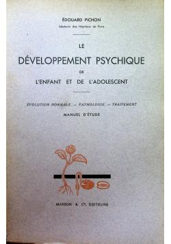 Le Developpement Psychique