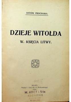 Dzieje Witołda 1914r