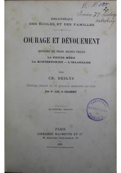 Courage et Devouement 1891 r.