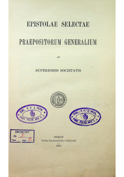 Epistolae Selectae 1911r
