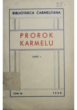 Prorok karmelu Część I 1938 r.