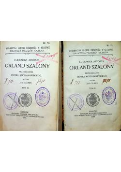 Orland szalony tom II i III 1905r