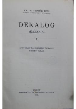 Dekalog kazania I 1933 r.