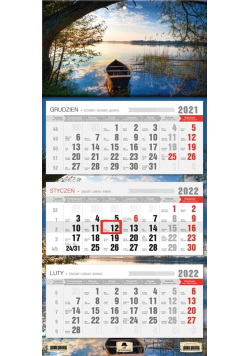Kalendarz 2022 trójdzielny Łódka