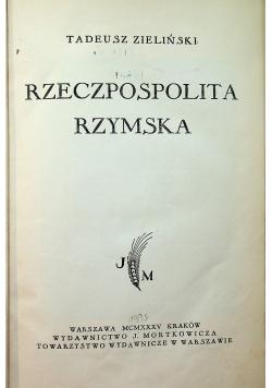 Rzeczpospolita Rzymska 1935 r