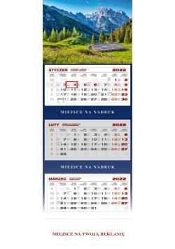 Kalendarz trójdzielny Alpy