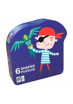 Puzzle dla dzieci w ozdobnym pudełku Pirat