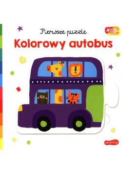 Pierwsze puzzle Kolorowy autobus