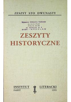 Zeszyty historyczne zeszyt sto dwunasty