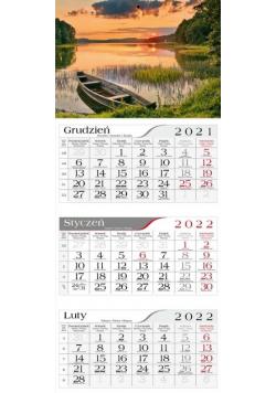 Kalendarz 2022 Trójdzielny Mazury CRUX