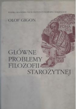 Główne problemy filozofii starożytnej