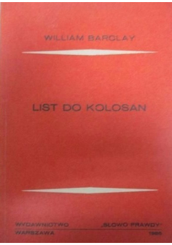 List do Kolosan