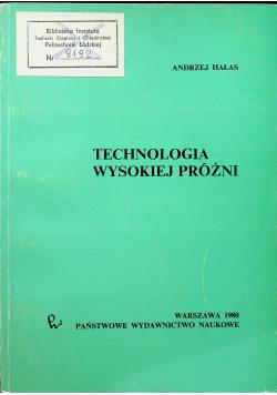 Technologia wysokiej próżni