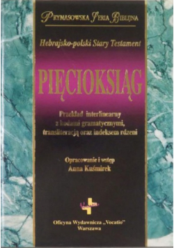 Hebrajsko polski Stary Testament Pięcioksiąg