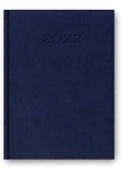 Kalendarz 2022 A5 dzienny z registrem oprawa vivella niebieski