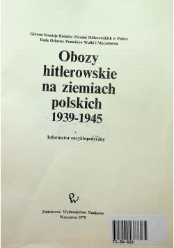 Obozy hitlerowskie na ziemiach polskich 1939 1945