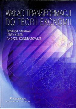 Wkład transformacji do teorii ekonomii