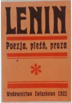 Lenin poezja pieśń proza