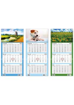 Kalendarz 2022 trójdzielny LUX wypukły mix HELMA