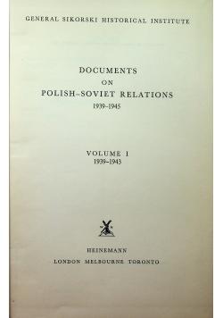 Documents on polish-soviet relations Volume I