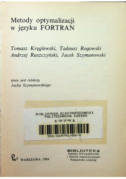 Metody optymalizacji w języku FORTRAN