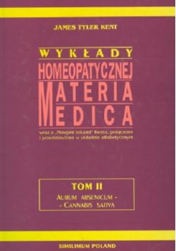 Wykłady homeopatycznej Materia Medica tom 2