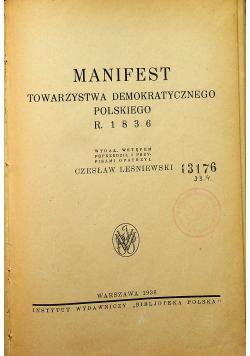 Manifest Towarzystwa demokratycznego polskiego 1936 r.