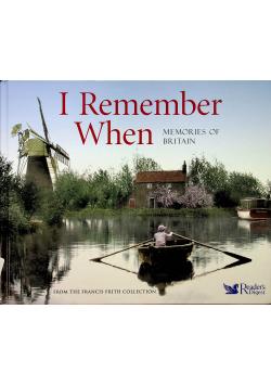 I Remember When Memories