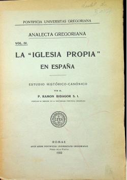 La Iglesia propia en espana 1933 r.