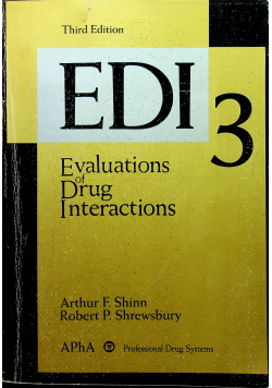 Evaluations of drug interactions 3