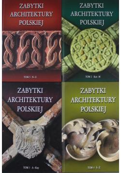 Zabytki Architektury Polskiej tom od I do IV