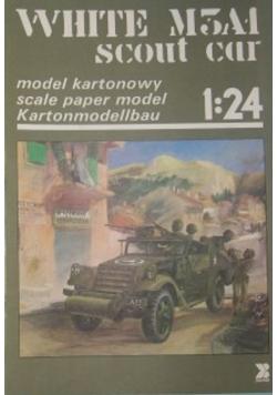 White M3A1 scout car  model kartonowy