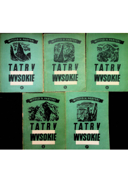Wysokie Tatry  tomy od IV do VIII