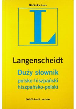 Duży Słownik polsko hiszpański hiszpańsko polski