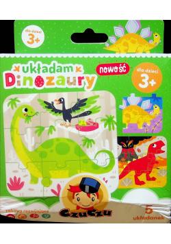 Układam dinozaury 5 układanek