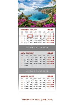 Kalendarz trójdzielny Lazurowe Wybrzeże