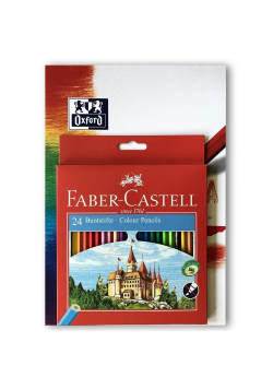 Kredki Zamek 24 kolory FABER CASTELL+ blok GRATIS