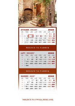 Kalendarz trójdzielny Toskania