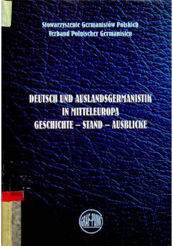 Deutsch und auslandsgermanistik in mitteleuropa Geschichte Stand Ausblicke