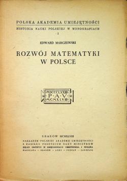Rozwój Matematyki w Polsce 1948 r.