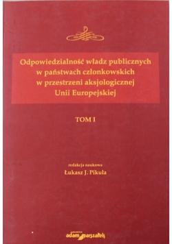 Odpowiedzialność władz publicznych w państwach członkowskich Tom 1