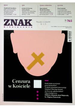 Znak Miesięcznik 765 Cenzura w Kościele