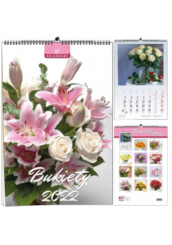 Kalendarz 2022 B3 13 plansz Bukiety