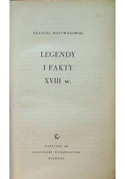 Legendy i fakty XVIII w