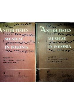 Antiquitates musicae in Polonia Volume IV i VII