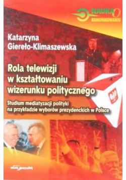 Rola telewizji w kształtowaniu wizerunku politycznego