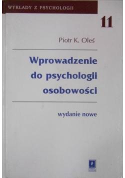 Wprowadzenie do psychologii osobowości tom XI