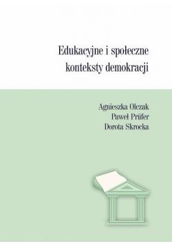 Edukacyjne i społeczne konteksty demokracji