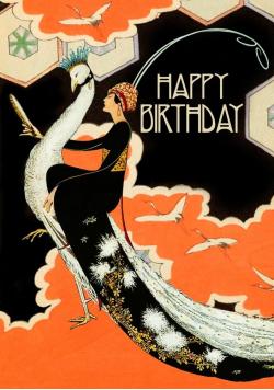 Karnet B6 brokat z kopertą Urodziny Lusterko